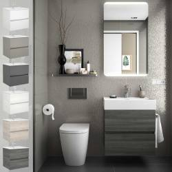 MUEBLE DE BAÑO FUSSION LINE SUSPENDIDO 600 MM
