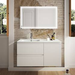 MUEBLE DE BAÑO SPIRIT SUSPENDIDO 100 CM BLANCO BRILLO